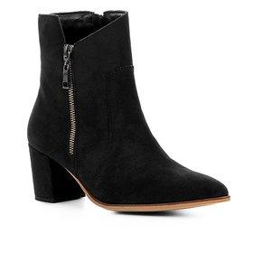 6f1336d73b Bota Cano Curto Couro Shoestock London Feminina