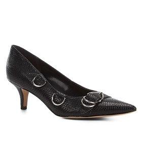 bef8a187c0 Scarpin Shoestock Salto Baixo Laço Cetim - Cinza
