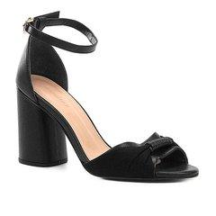 9405432e44 Sandália Couro Shoestock Salto Bloco Tira Feminina