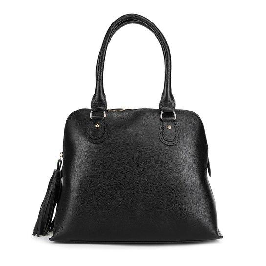 2e4815e68 Bolsa Couro Shoestock Média Handbag Feminina - Preto | Shoestock