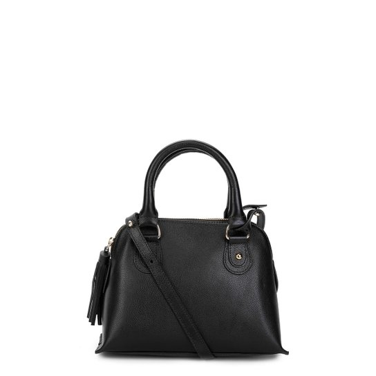 48a86f60d Bolsa Couro Shoestock Mini Handbag Feminina - Preto | Shoestock