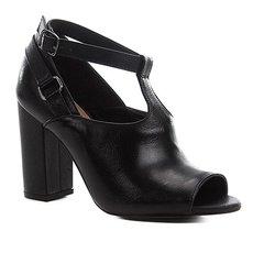 877636da8 Sandália Couro Shoestock Strappy Salto Bloco Feminina · Confira · Sandália  Couro Shoestock Sandal Boot Feminina