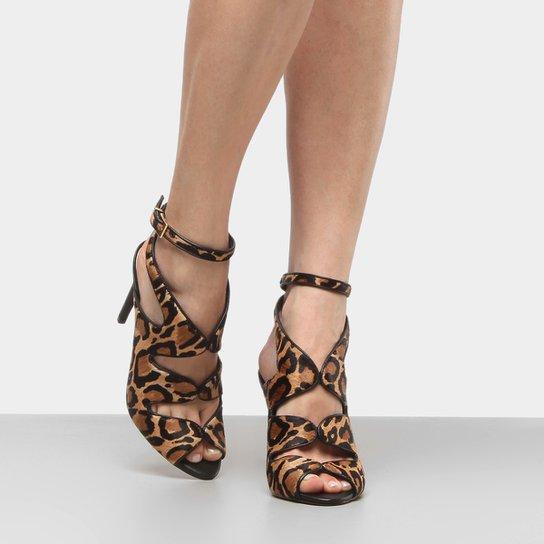 48e2ca6860 Sandália Couro Shoestock Salto Fino Feminina - Compre Agora