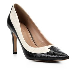 03d16116c Scarpin Couro Shoestock Salto Alto Western