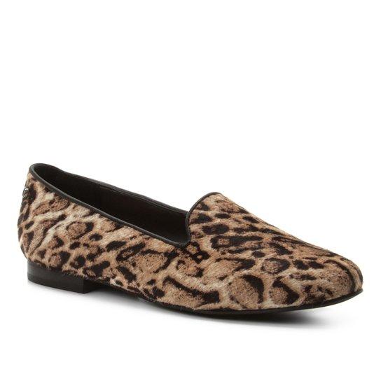 5709f0e9a Mocassim Shoestock Loafer Panther Couro - Preto e Amarelo | Shoestock