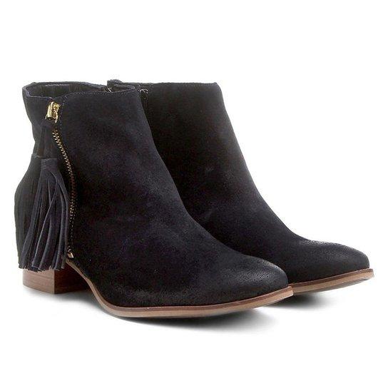 37d889337 Bota Couro Cano Curto Shoestock Barbicacho Feminino - Marinho ...