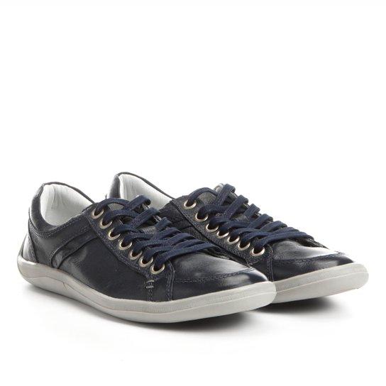 fd184f3d28 Sapatênis Couro Shoestock Pespontos Masculino - Compre Agora
