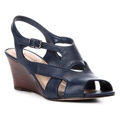 4a1e05b133 Sandália Anabela Shoestock Tiras Vazadas Feminina