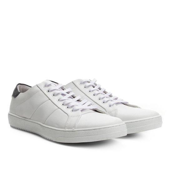 574060c43c Sapatênis Couro Shoestock Masculino - Branco - Compre Agora