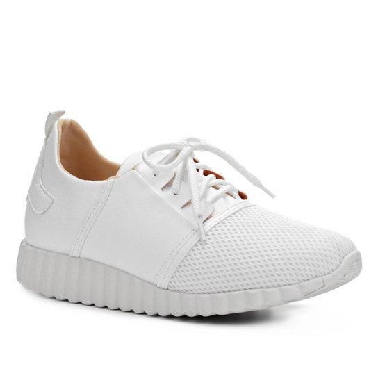 975a022bd1c Tênis Shoestock Liso Mesh Feminino - Branco - Compre Agora