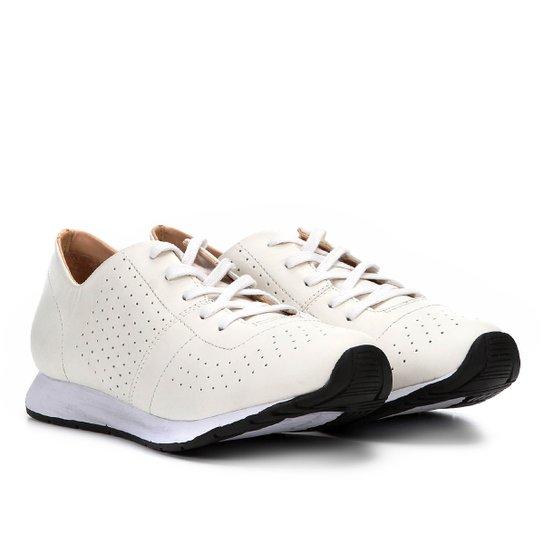 87babcd78fd Tênis Couro Shoestock Jogging Feminino - Branco - Compre Agora ...