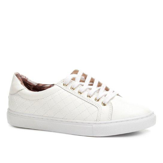 abfa9cf2897 Tênis Couro Shoestock Lenço Matelassê Feminino - Branco - Compre ...