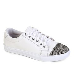 439c67b39a2 Tênis Couro Shoestock Soft Crystal Feminino