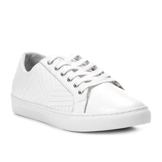 d2652bf4fd2 Tênis Couro Shoestock Matelassê Feminino - Branco - Compre Agora ...