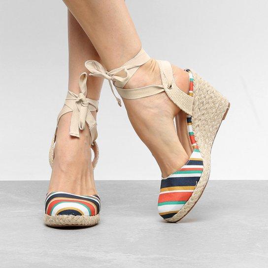 59ceff1d15 Sandália Anabela Shoestock Fechada Estampada Feminina | Shoestock