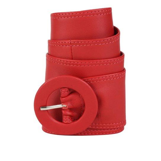 c5b0363e92ec0 Cinto Couro Shoestock Faixa Feminino - Vermelho - Compre Agora ...