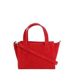 Bolsa Shoestock Mini Bag Tiracolo Camurça Feminina 27d89a731e7