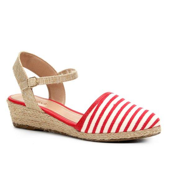 e5602ab41 Sandália Anabela Shoestock Espadrille Linho Feminina - Vermelho. Loading.