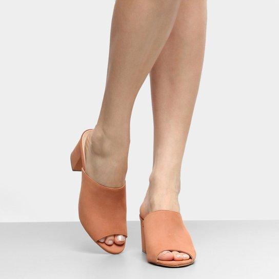 6fb7306838 Tamanco Couro Shoestock Salto Grosso Feminino - Compre Agora
