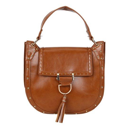 Bolsa Shoestock Saddle Paola Feminina - Caramelo - Compre Agora ... 3b958b4097a