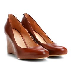 0dc728dac7 Scarpin Couro Shoestock Salto Médio Anabela