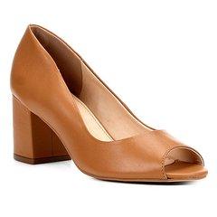 78989a1e4 Peep Toe Shoestock Salto Grosso Básico