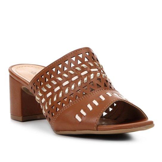 1e671512c3 Sandália Shoestock Salto Grosso Laser Feminina - Compre Agora ...