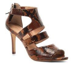 164e561dc Sandália Couro Shoestock Animal Print Snake Feminina