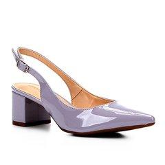 46942959c1 Scarpin Shoestock Salto Baixo Verniz Bico Fino