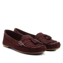 700d3e0c4f Mocassim Couro Shoestock Franja Barbicachos Feminino