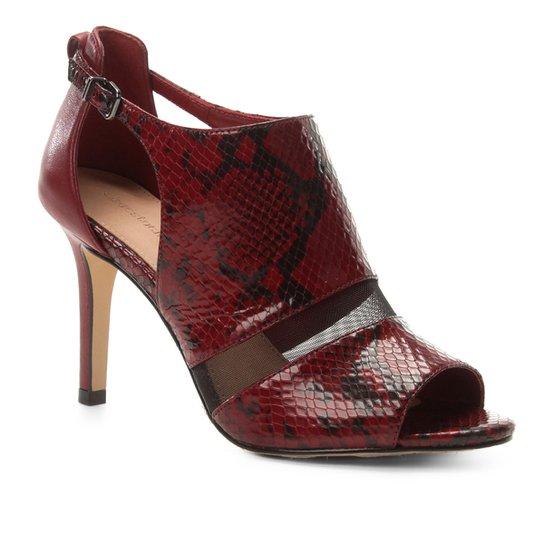 5f01d50571 Sandália Couro Shoestock Snake Tela Feminina - Vinho - Compre Agora ...