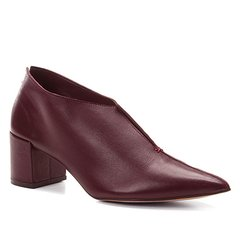 143a46ef1 Ankle Boot Couro Shoestock Salto Bloco Recortes