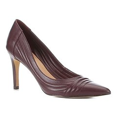 fae4bb6a98 Scarpin Couro Shoestock Salto Alto Matelassê