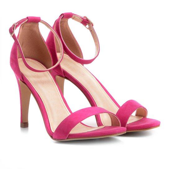 d00314bb7b Sandália Couro Shoestock Salto Fino Naked Feminina - Pink