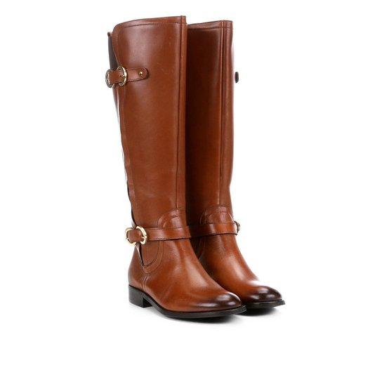 9ac2456566 Bota Montaria Shoestock Fivelas Feminina - Marrom - Compre Agora ...
