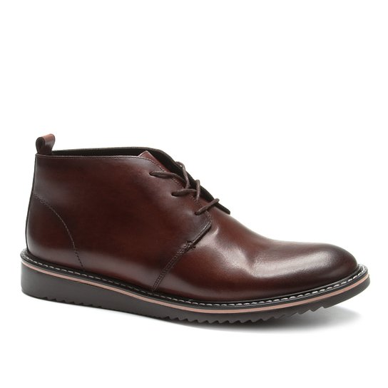 8d447e7e87394 Bota Couro Shoestock Cano Curto Masculina | Shoestock