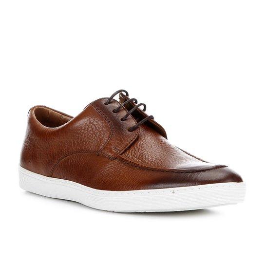 37de0c0c14f Sapatênis Couro Shoestock Clássico Masculino - Marrom - Compre Agora ...