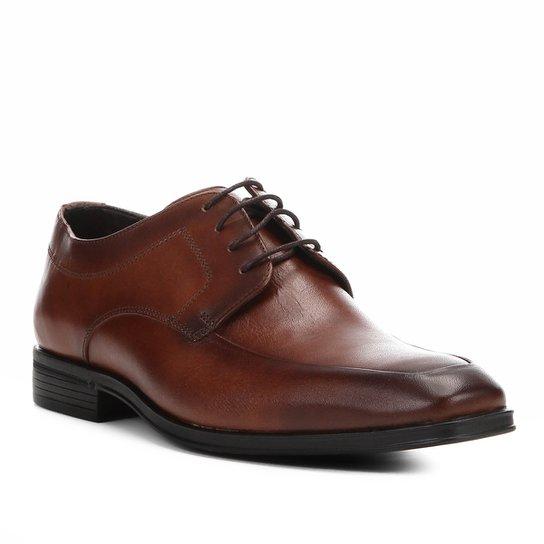 82f18957d3 Sapato Social Couro Shoestock Cadarço Masculino - Marrom
