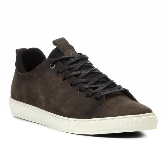 8973b19d19 Sapatênis Shoestock Neoprene Couro Masculino - Musgo