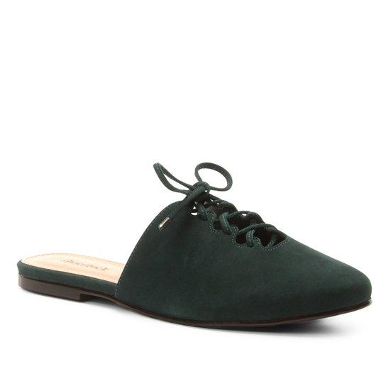 0f2e4c3420 Mule Couro Shoestock Nobuck Lace Up - Verde - Compre Agora