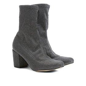 7950f7cee90 Bota Slouch Shoestock Couro Cano Curto Feminina - Vinho - Compre ...