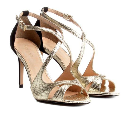 85619e0b0 Sandália Shoestock Salto Fino Party Feminina - Dourado | Shoestock