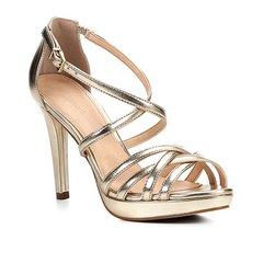 5ede4330a5 Sandália Shoestock Salto Fino Recortes Feminina