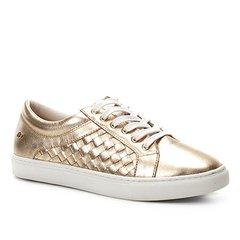 cf813e5ea02 Tênis Couro Shoestock Trançado Feminino