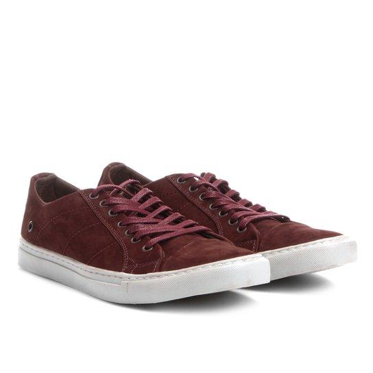a63b9216f5 Sapatênis Couro Shoestock Nobuck Color Masculino - Bordô