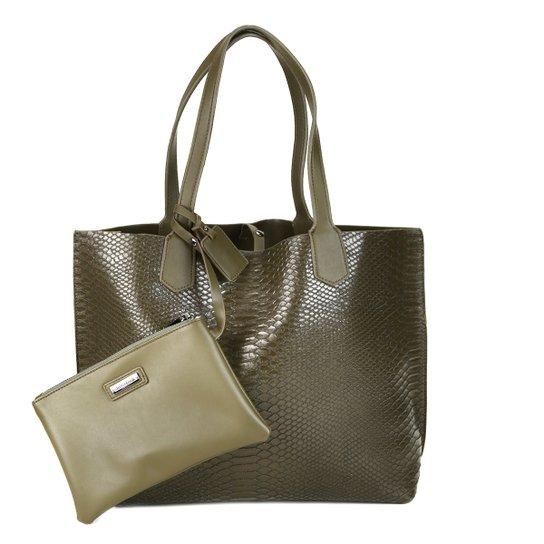 99a5f1442463e Bolsa Shoestock Shopper Dupla Face Snake Feminina - Compre Agora ...