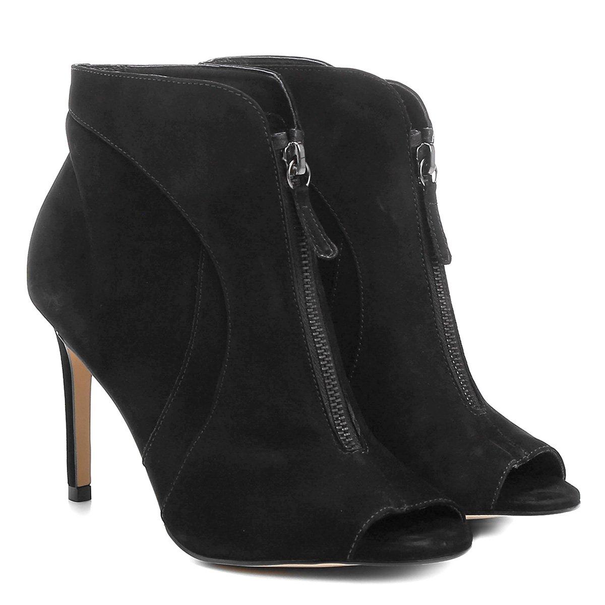 ce4fa08ab Ankle Boot Couro Shoestock Salto Fino Zíper | Shoestock