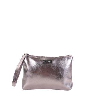 Bolsa Clutch Shoestock Metalizada Feminina