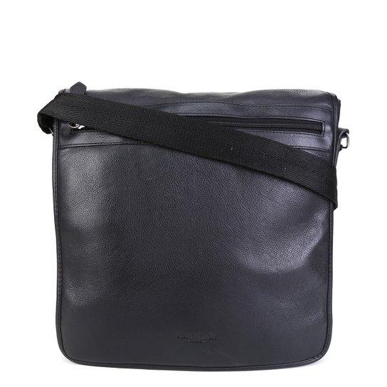 Bolsa Couro Shoestock Carteiro Transversal Masculina - Preto