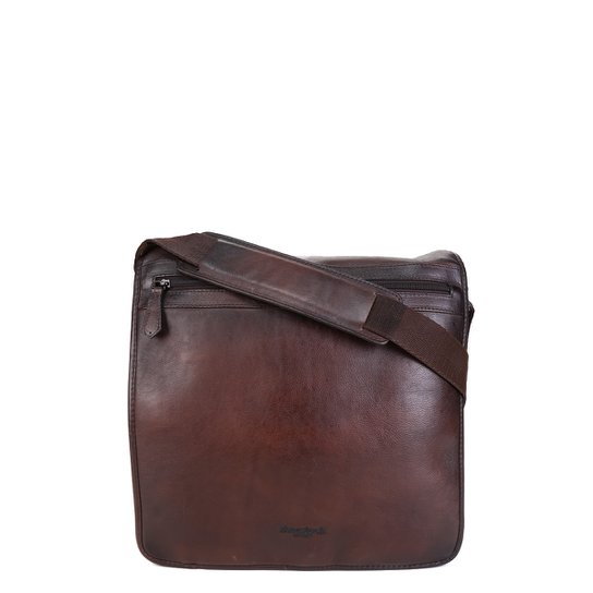 Bolsa Couro Shoestock Carteiro Transversal Masculina - Marrom